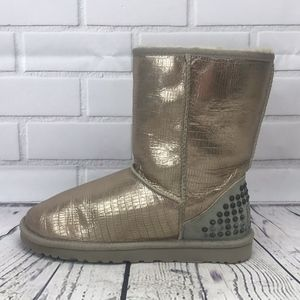 UGG Australia Gold Studded Mid Shearling Boots 7